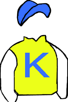 YELLOW, LIGHT BLUE 'K', WHITE SLEEVES, LIGHT BLUE CAP