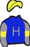 ROYAL BLUE, SILVER 'H' & SLEEVES, YELLOW ARMBANDS & CAP