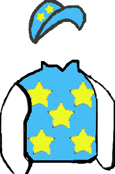 LIGHT BLUE, YELLOW STARS, WHITE SLEEVES, YELLOW STARS ON LIGHT BLUE CAP