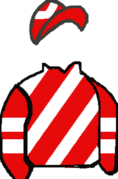 RED & WHITE DIAGONAL STRIPES, RED & WHITE HOOPED SLEEVES, RED & WHITE HOOPED CAP