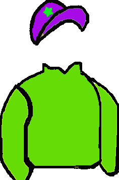 LIGHT GREEN, LIGHT GREEN STAR ON PURPLE CAP