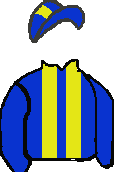ROYAL BLUE, YELLOW BRACES ROYAL BLUE & YELLOW STRIPED CAP