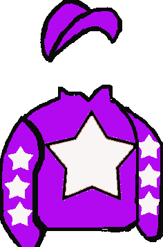 purple, white star, white star on purple sleeves