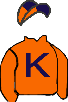 ORANGE, DARK BLUE 'K', DARK BLUE & ORANGE QUARTERED CAP